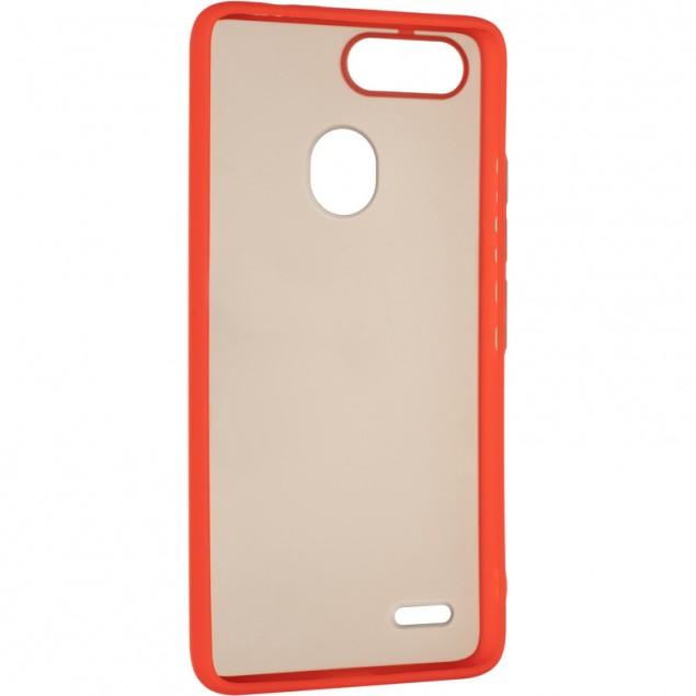 Gelius Bumper Mat Case for Tecno Pop 2F Red