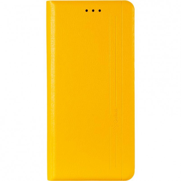Book Cover Leather Gelius New for Samsung A025 (A02s) Yellow