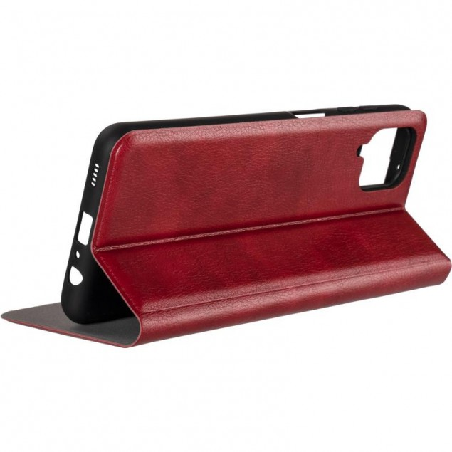 Book Cover Leather Gelius New for Samsung A125 (A12) Red
