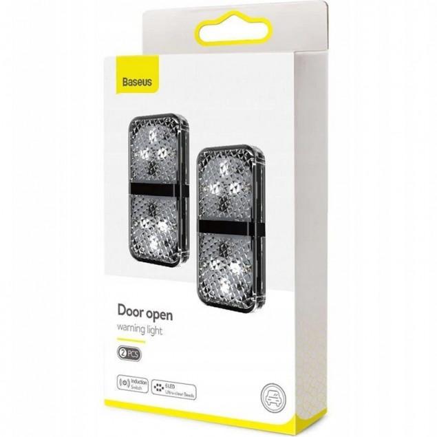 Baseus Door Open Warning Light (2pcs) (CRFZD-01) Black (Светодиодный индикатор открытия дверей )