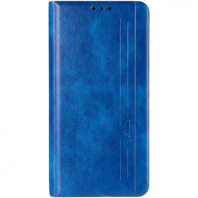 Book Cover Leather Gelius New for Samsung A015 (A01)/M015 (M01) Blue