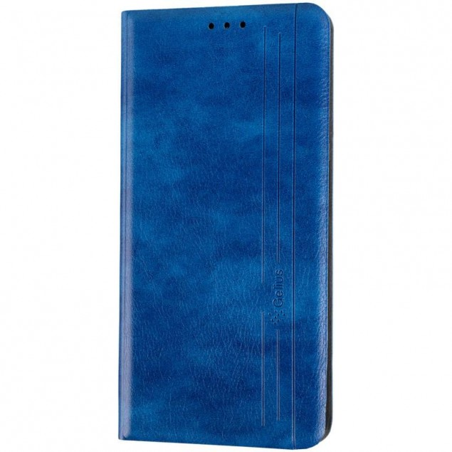 Book Cover Leather Gelius New for Huawei Y7 (2019) Blue