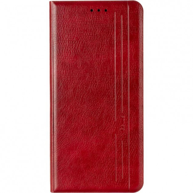 Book Cover Leather Gelius New for Samsung G996 (S21 Plus) Red