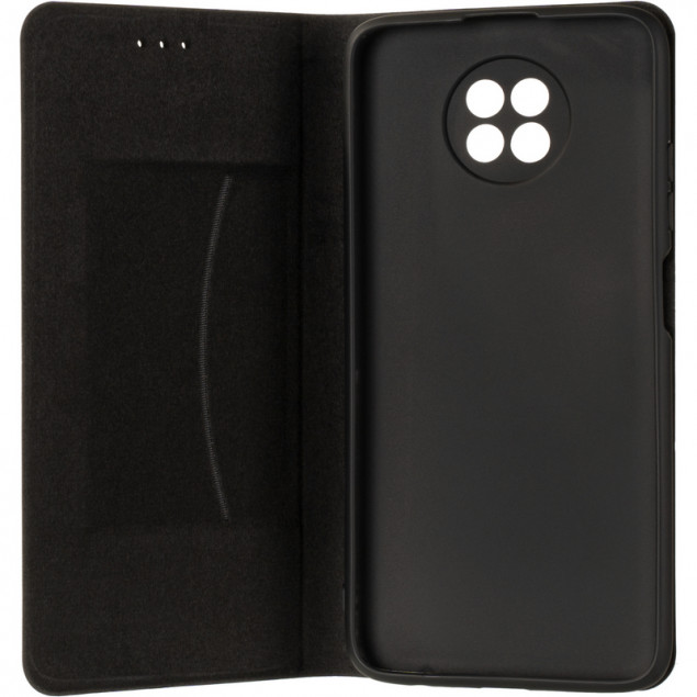 Book Cover Leather Gelius New for Xiaomi Redmi Note 9T Black
