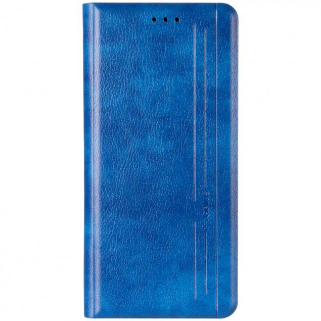 Book Cover Leather Gelius New for Realme 5 Blue