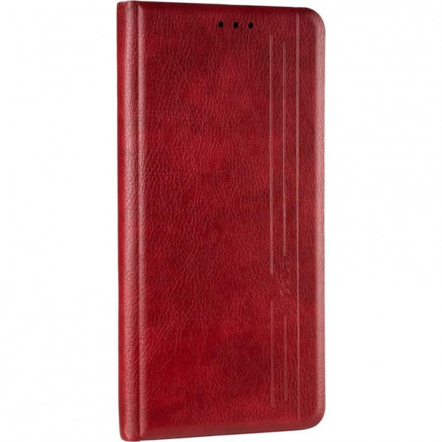Book Cover Leather Gelius New for Xiaomi Redmi 9 Red