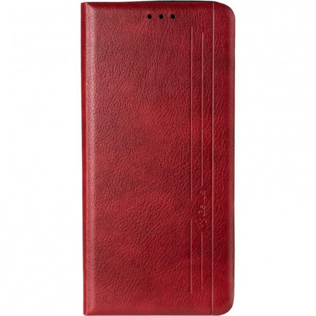 Book Cover Leather Gelius New for Samsung A217 (A21s) Red