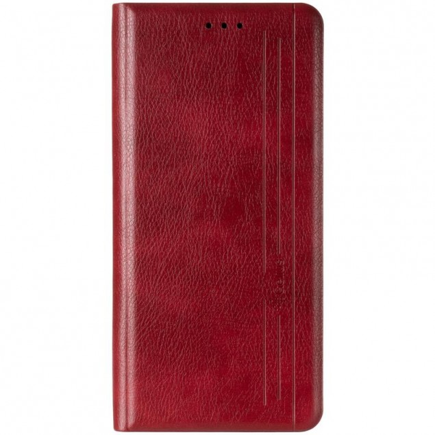 Book Cover Leather Gelius New for Realme 6i Red
