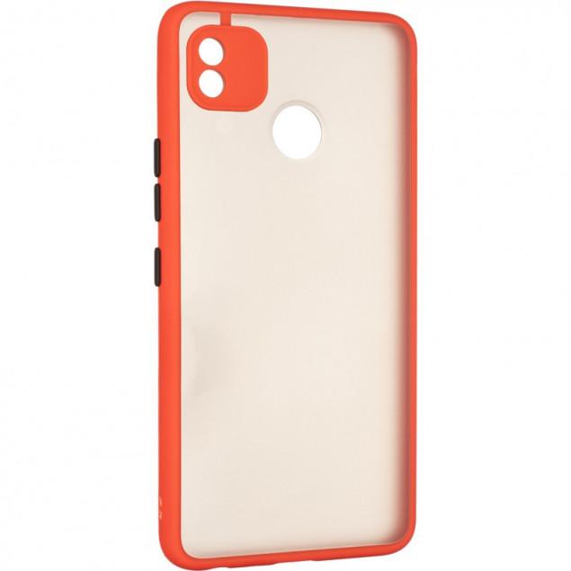 Gelius Bumper Mat Case for Tecno Pop 4 Red