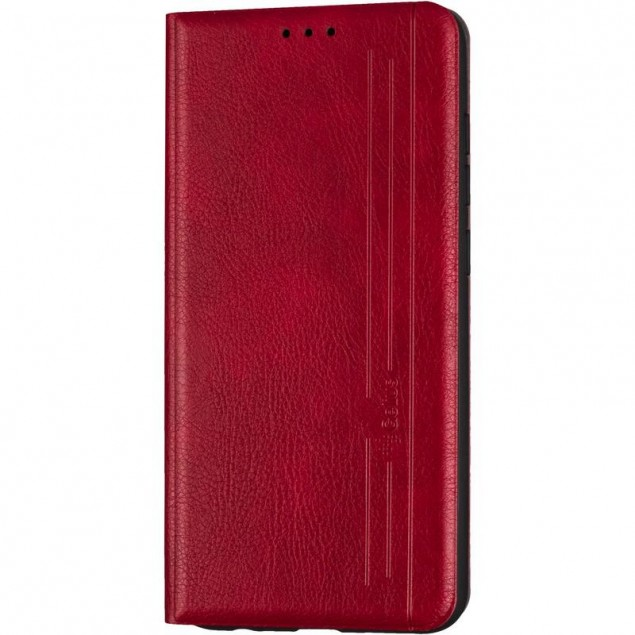 Book Cover Leather Gelius New for Xiaomi Redmi Note 9 Red