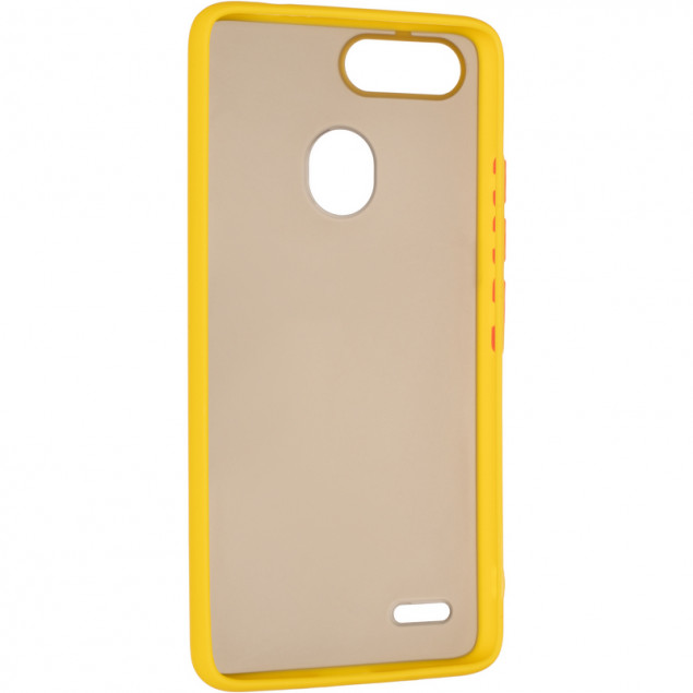 Gelius Bumper Mat Case for Tecno Pop 2F Yellow