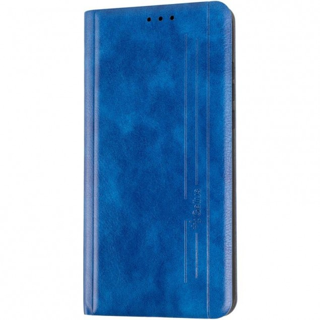 Book Cover Leather Gelius New for Huawei P30 Lite Blue