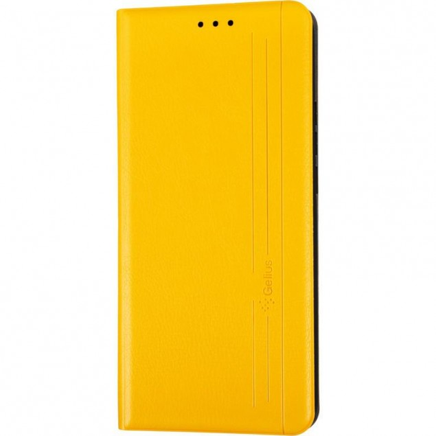 Book Cover Leather Gelius New for Xiaomi Redmi 9 Yellow