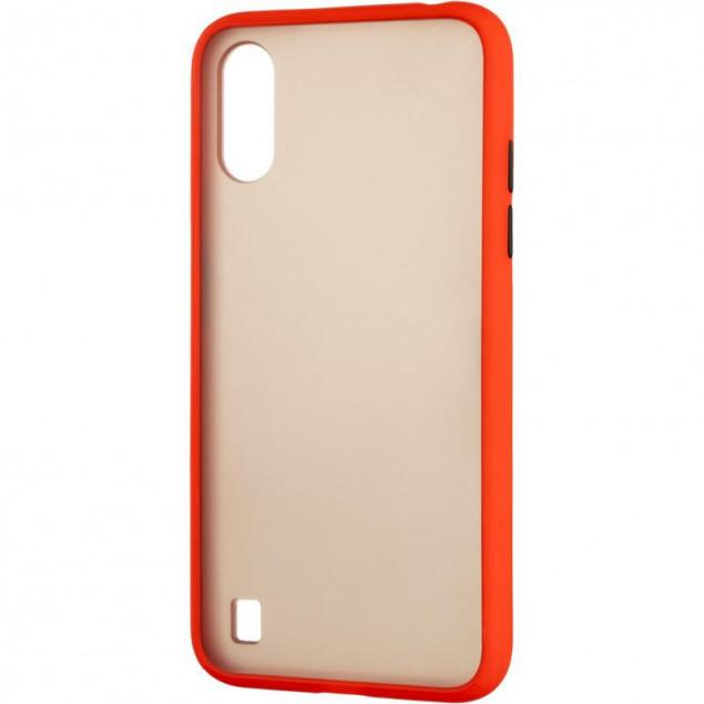 Gelius Bumper Mat Case for Samsung A015 (A01) Red