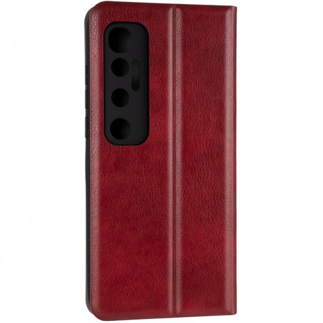 Book Cover Leather Gelius New for Xiaomi Mi 10 Ultra Red