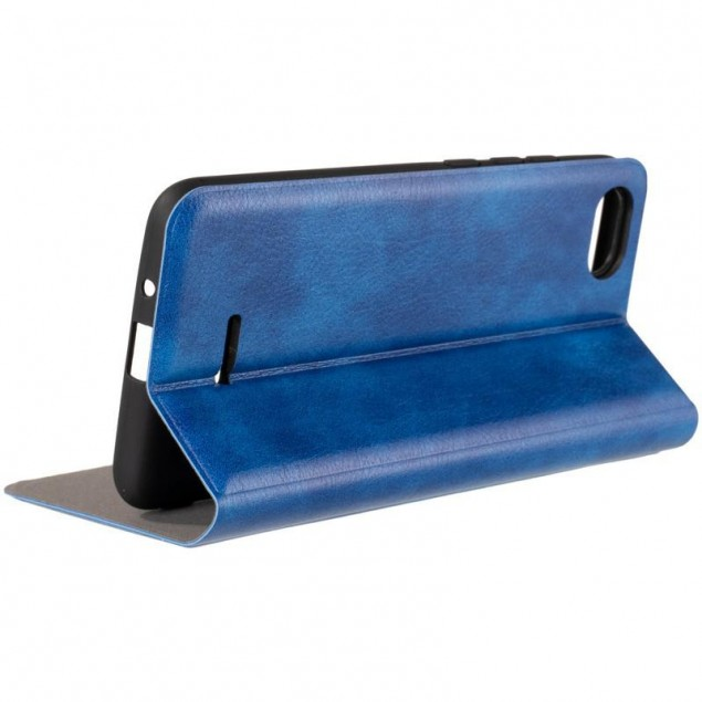 Book Cover Leather Gelius New for Xiaomi Redmi 6a Blue