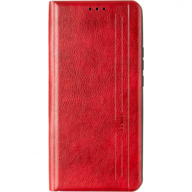 Book Cover Leather Gelius New for Oppo A74 Red