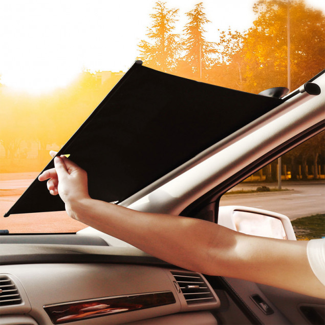 Baseus Auto Close Car Front Window Sunshade 58' (CRZYD-A0S) Silver (Автомобильная солнцезащитная шторка)