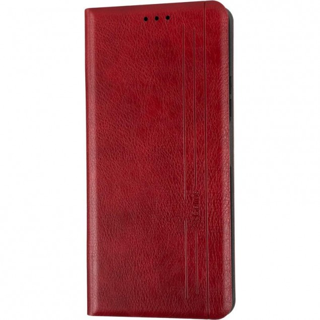 Book Cover Leather Gelius New for Huawei P Smart (2021) Red