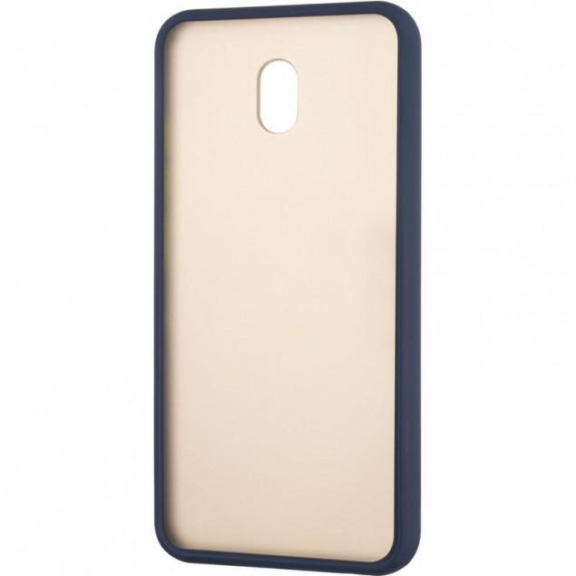 Gelius Bumper Mat Case for Xiaomi Redmi 8a Blue