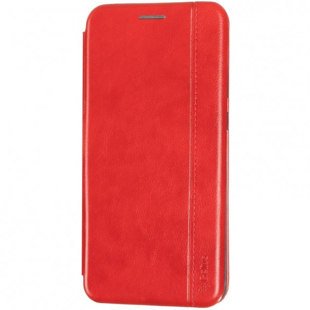 Book Cover Leather Gelius for Xiaomi Redmi Note 9 Red