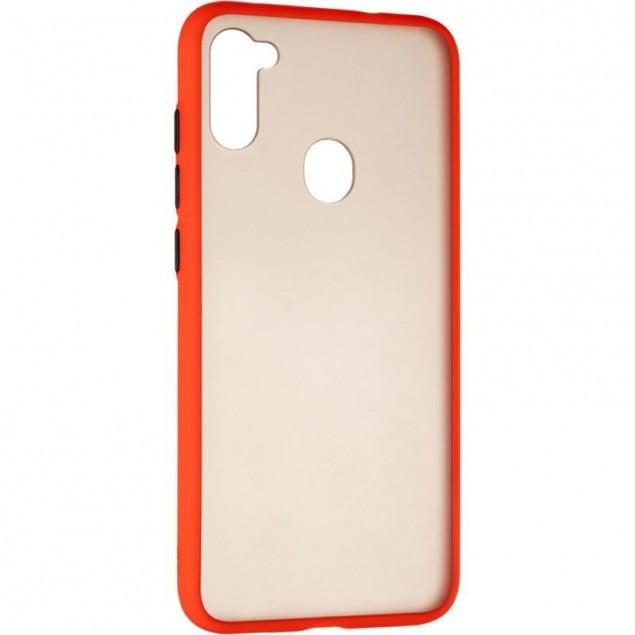 Gelius Bumper Mat Case for Samsung A115 (A11) Red
