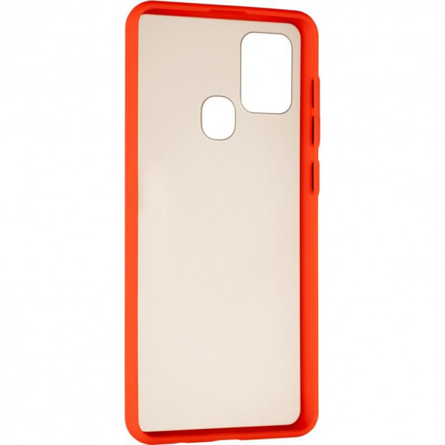 Gelius Bumper Mat Case for Samsung A217 (A21s) Red