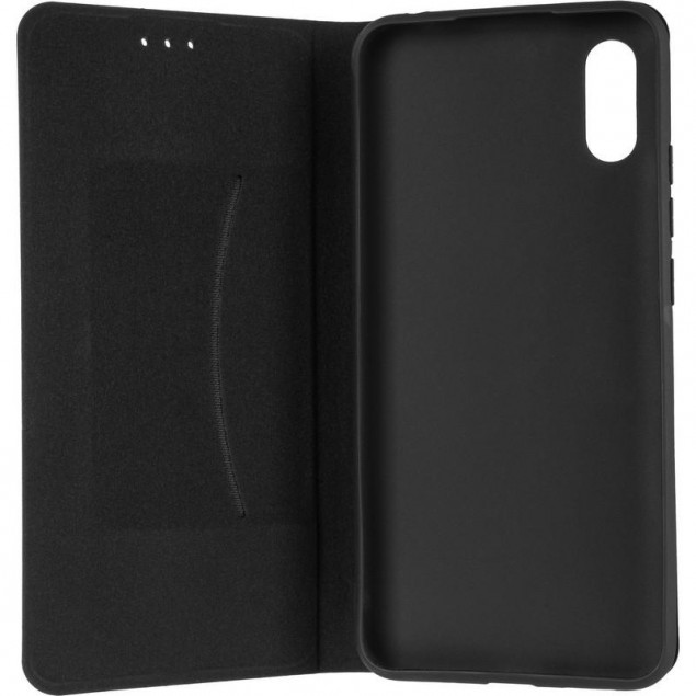 Book Cover Leather Gelius New for Xiaomi Redmi 9a Black