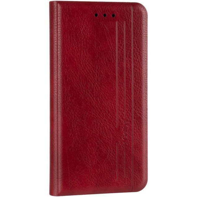 Book Cover Leather Gelius New for iPhone 12 Mini Red
