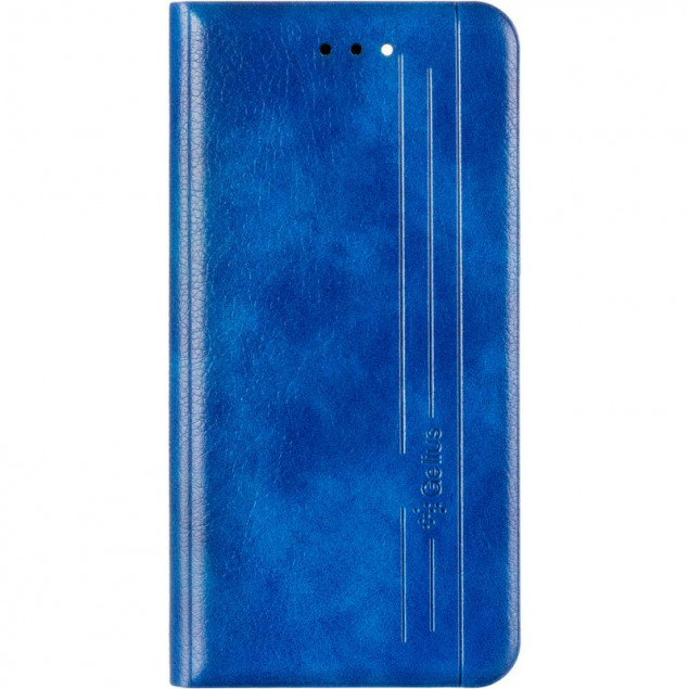 Book Cover Leather Gelius New for iPhone 12 Mini Blue