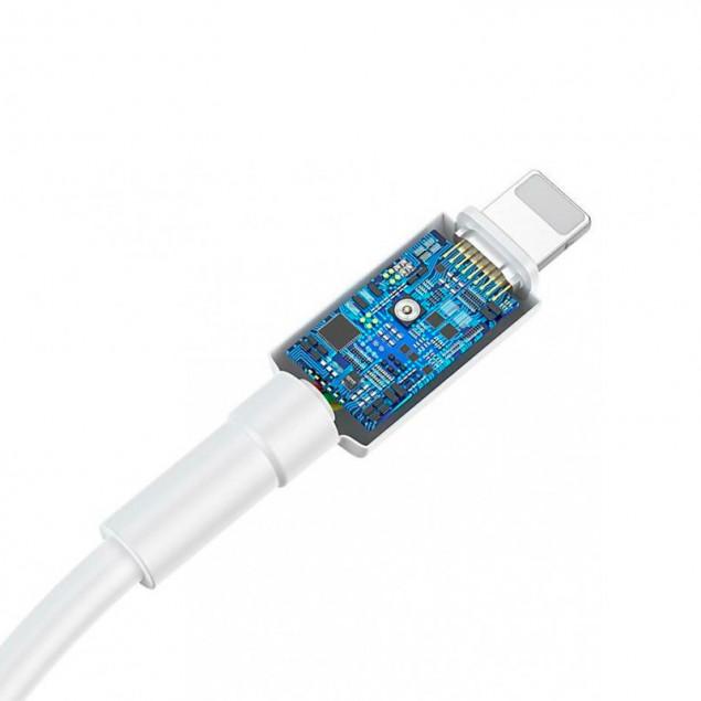 Cable Baseus Mini Type-C/Lightning 18W (CATLSW-02) White 1m