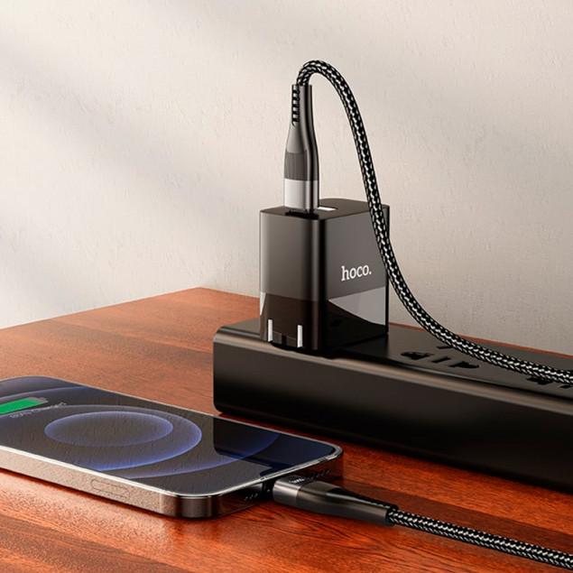 Cable Hoco U99 Vortex Magnetic PD Type-C/Lightning Black 1.2m