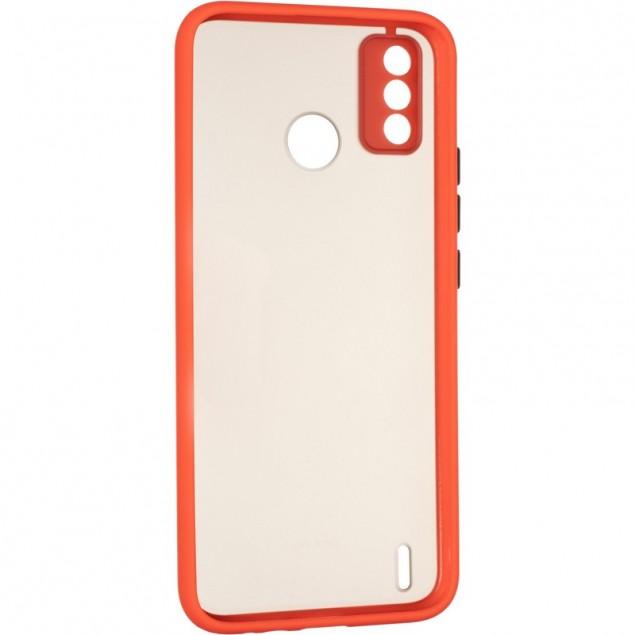Gelius Bumper Mat Case for Tecno Spark 6 Go Red