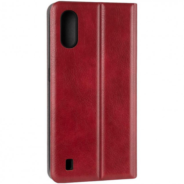 Book Cover Leather Gelius New for Samsung A015 (A01)/M015 (M01) Red