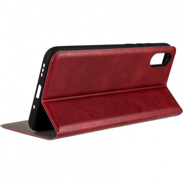 Book Cover Leather Gelius New for Xiaomi Redmi 9a Red
