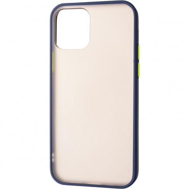 Gelius Bumper Mat Case for iPhone 12/12 Pro Blue