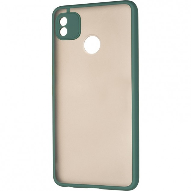 Gelius Bumper Mat Case for Tecno Pop 4 Green
