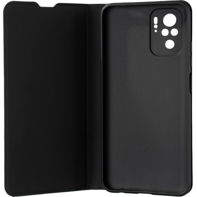 Book Cover Gelius Shell Case for Xiaomi Redmi Note 10 4G Black